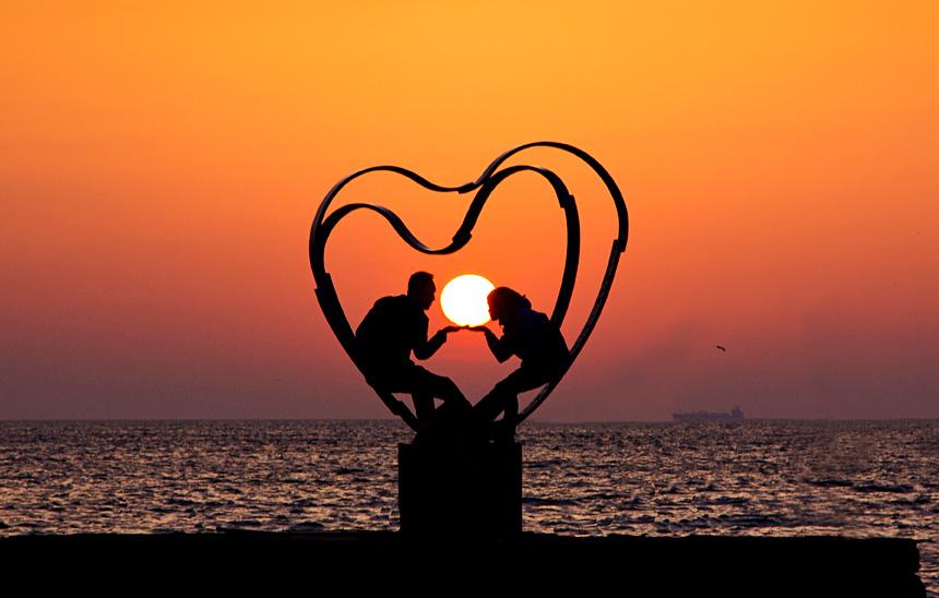 Скульптура «Солнечное сердце»